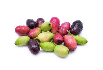 Jambolan plum or Java plum isolate on white background
