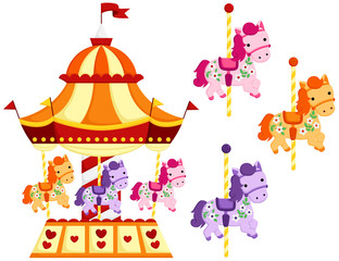 Cute Carousel and Horse