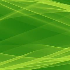 Abstract green background. Bright green lines. Geometric pattern in green colors. Digital art.