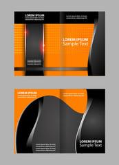 Bi-Fold Brochure Design. Corporate Leaflet, Cover Template