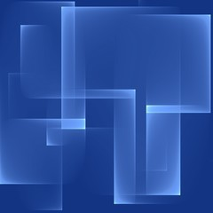 Abstract background pattern. Bright blue rectangles. Cubism style. Digital art.