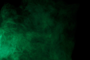 Abstract green smoke hookah.