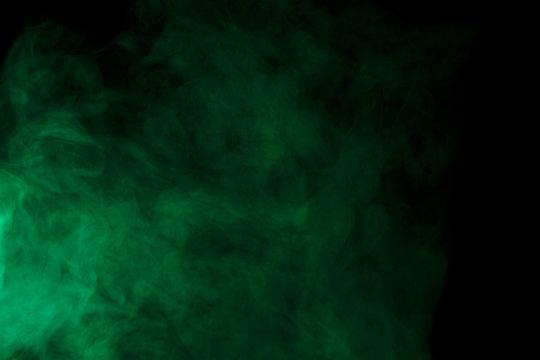 Abstract green smoke hookah.