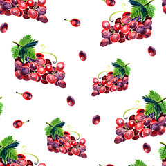Watercolor summer grape pattern