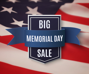 Big Memorial Day sale background.