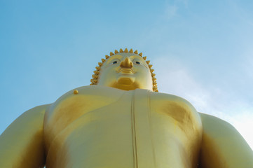 Buddha is the largest in Thailand.