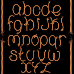 Font from Twisted Rope