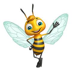 cute Bee funny cartoon character