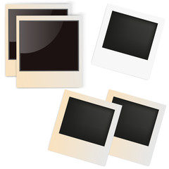 Set of picture frames exclusively.Retro photo frame on white background