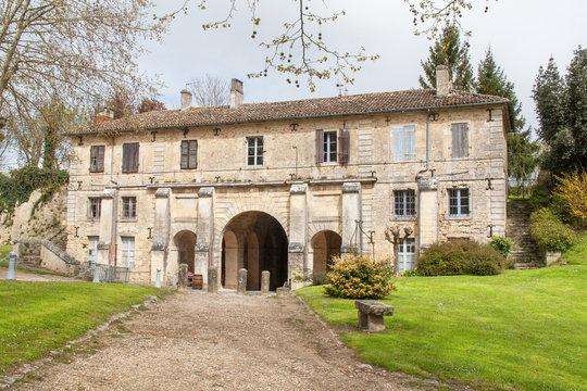 Blaye. Porte royale vue de l'intérieur de la citadelle, Gironde, France