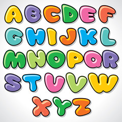 Vector Comics Alphabet