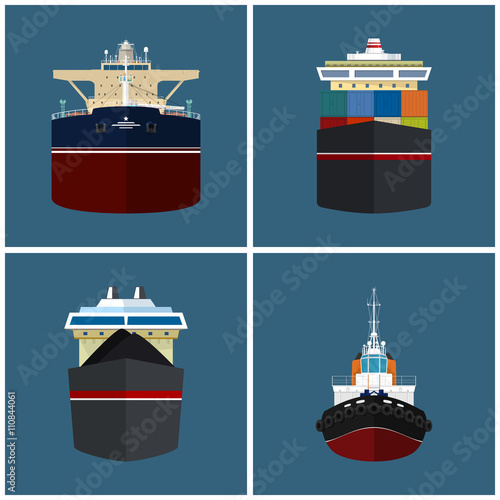 quotfront view of the vessel cargo container ship oil