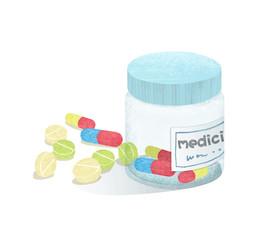 薬と薬ケース