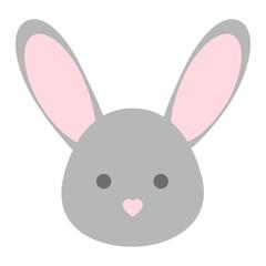 Vector bunny face