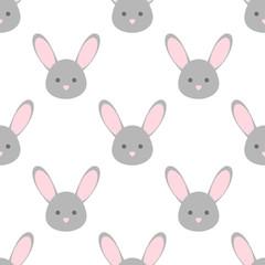 Vector bunny face. Wallpaper