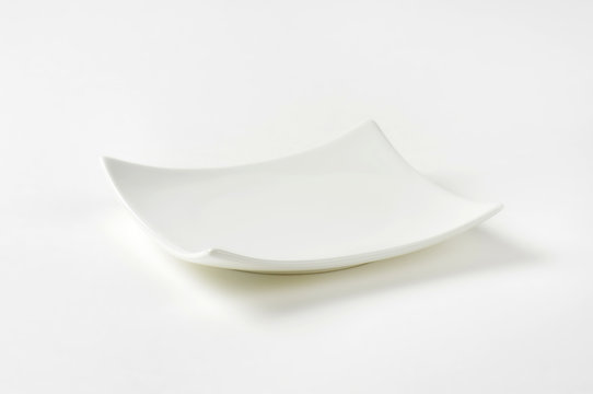 Square porcelain plate