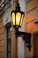 Old lantern on the wall, Saint Petersburg, Russia