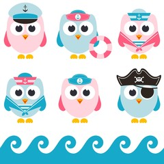 set of sailor owls