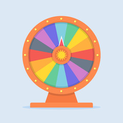 Wheel of Fortune vector illustration