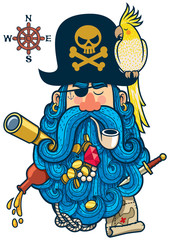 Pirate Portrait / Portrait of cartoon pirate with big beard.