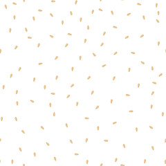 Sesame seeds seamless vector pattern. Packaging background design.