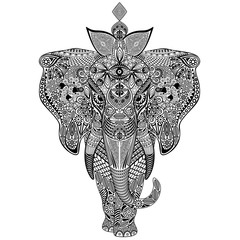 Elephant Zentangle Doodle Art