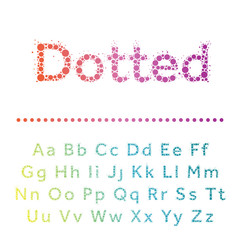 Vector dotted font. Multicircles type.