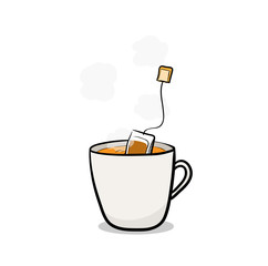 Hot Tea, a hand drawn vector illustration of a hot tea.