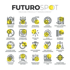 Product Management Futuro Spot Icons