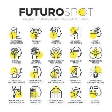 Personality Traits Futuro Spot Icons