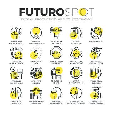 Productivity Work Futuro Spot Icons
