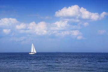 Yacht in open waters