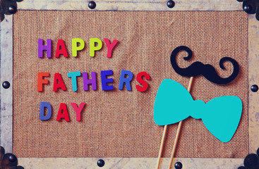 top view image of fathers day composition
