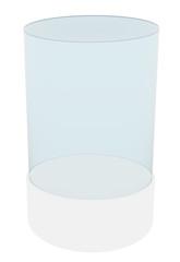 Cylindrical empty showcase