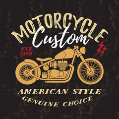 Custom Motorcycle Print.