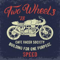 Cafe Racer print design.