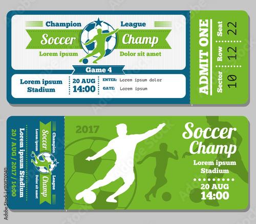 Football soccer vector ticket template Footbal ticket and soccer – Sport Ticket Template