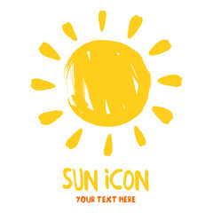 Sun burst logo icon