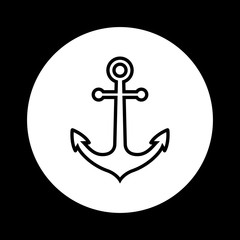 Black and white anchor icon