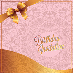 Happy Birthday Greeting Card and background design