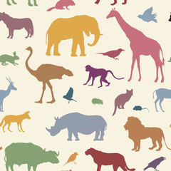 Animals pattern African wdildlife animal seamless background