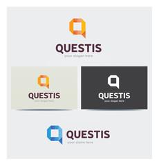 Logo Lettre Q Carte de Visite et Charte Graphique Entreprise Plusieurs Couleurs