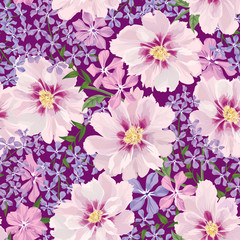 Floral pattern Flower bouquet background.  Flourish seamless texure