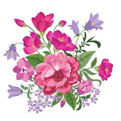 Floral background. Flower bouquet vintage cover. Flourish posy card