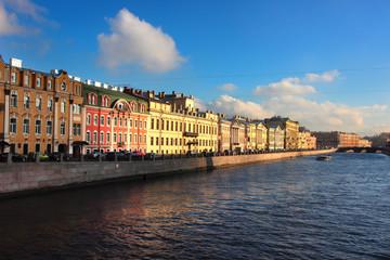 Fontanka canal in Saint Petersburg, Russia