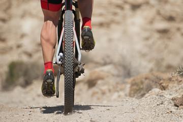 Mountain bike sport athlete man riding outdoors