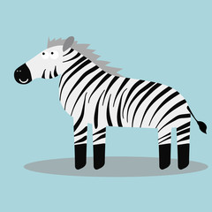 Happy cartoon zebra