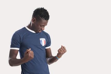 French sports fan