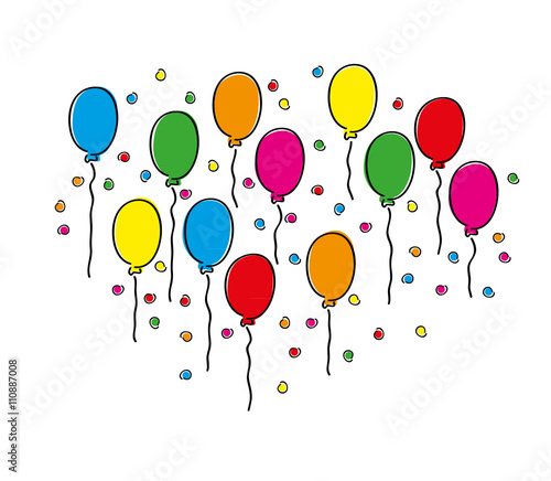 luftballons gezeichnet stockfotos und lizenzfreie vektoren auf bild 110887008. Black Bedroom Furniture Sets. Home Design Ideas