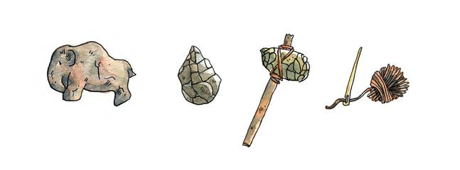 Werkzeuge und Kunst in der Steinzeit